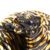 Vintage tijger beeld met jong keramiek 24k verguld jaren 80
