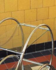 Vintage trolley rond
