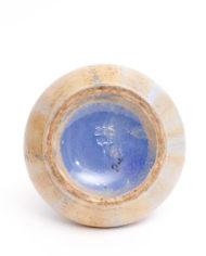 Vintage vaas van keramiek met lichtblauw glazuur