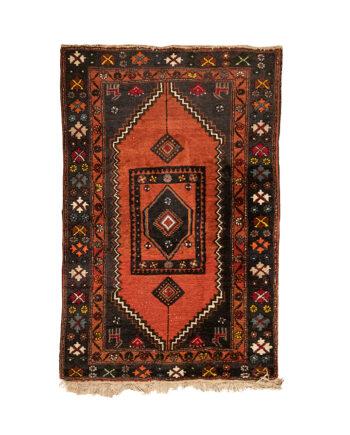 Vintage vloerkleed met diverse kleuren, patronen en alpaca's 160x105 cm