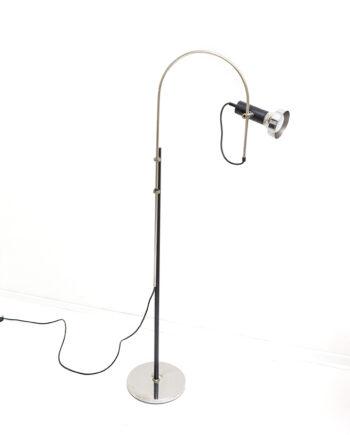 Vintage vloerlamp chroom met boog
