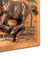 Vintage wanddecoratie met zebra in 3D