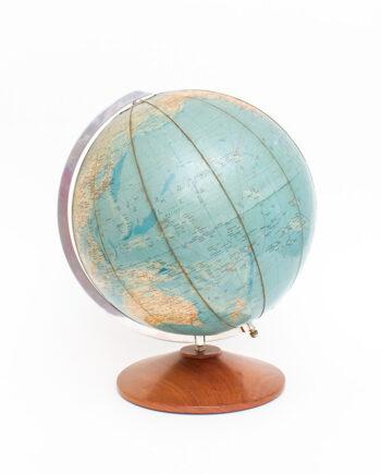 Vintage wereldbol TL Globe 1959 met houten voet
