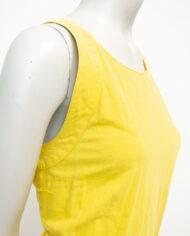 Vintage zomerjurk van geel katoen Pierre Cardin