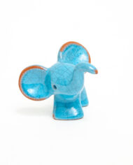 Walter Bosse olifant beeldje keramiek voor Karlsruher Majolika jaren 50