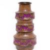 West-Germany vaas Pagoda Scheurich 267-38 bruin met paarse zigzag