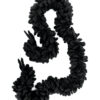 Yohji Yamamoto 1990 zwarte wollen loop shawl