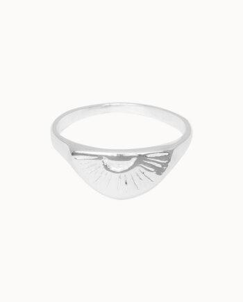 Zilveren ring Flawed Sunrise