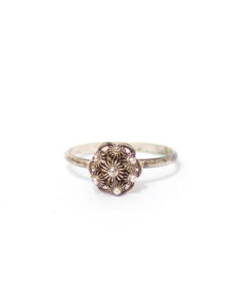 Zilveren ring met Zeeuwse knoop vintage