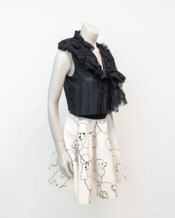 Zwart gilet Comme des Garçons Robe des Chambre 2004