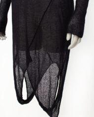 Zwarte Margiela x Stilab jurk/trui/tuniek met twee schouderkanten