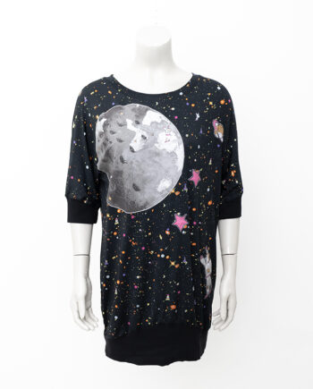 Zwarte space jurk van zijde Tsumori Chisato oversized fit