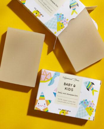 Body en gezichtszeep voor baby's en kids