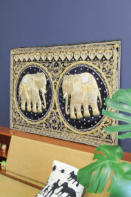 birmese-vintage-kalaga-olifanten-schilderij-wanddoek-3