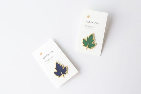 de Bloemenier bladgoud pin van papier