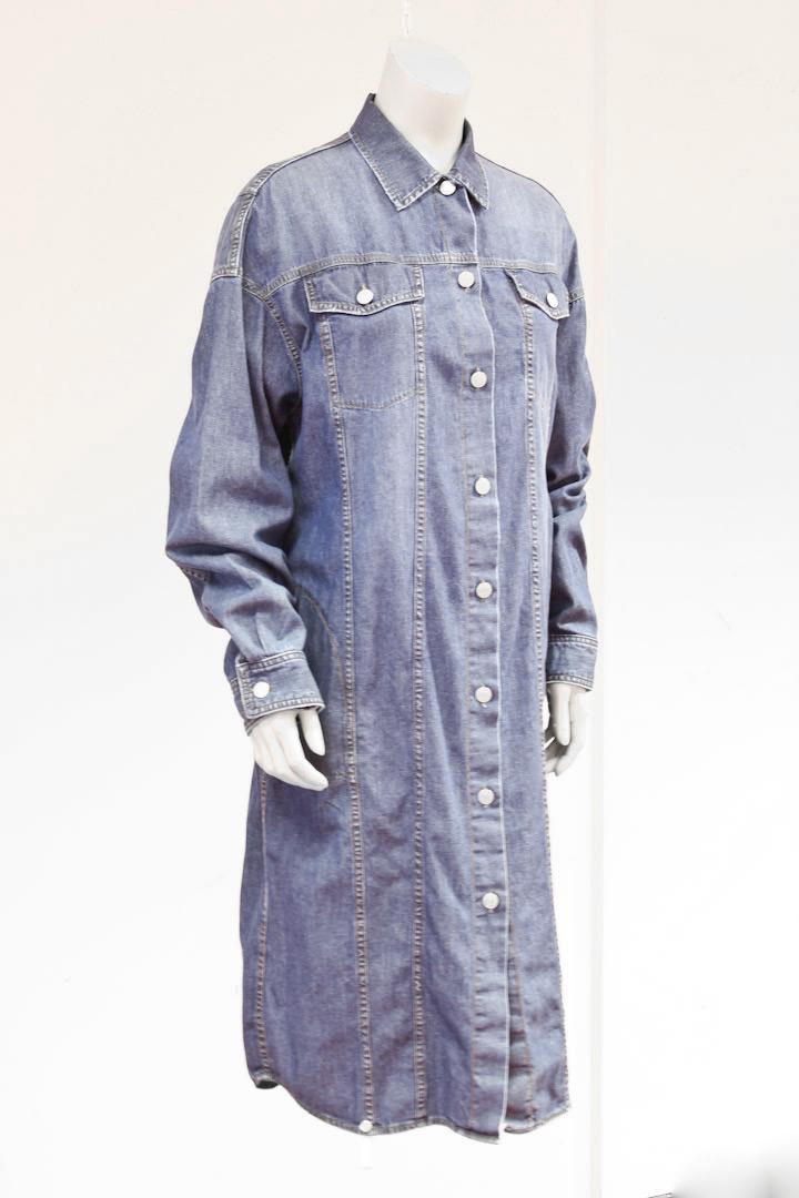293956160fb3df Dries van Noten denim jurk   jas met knopen aan de voorkant - Froufrou s