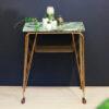 Franse Art Deco bijzettafel groen marmer look