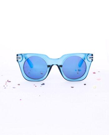 groen blauwe zonnebril
