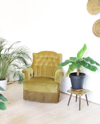 fluwelen stoel