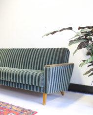 groene-vintage-sofa-bank-slaapbank-strepen-jaren 60-10