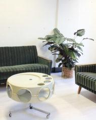 groene-vintage-sofa-bank-slaapbank-strepen-jaren 60-11
