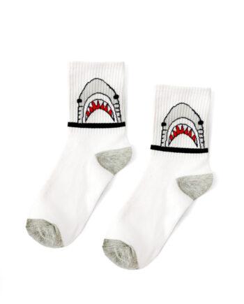 Haai sokken wit