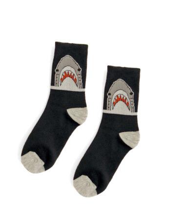 Haai sokken zwart