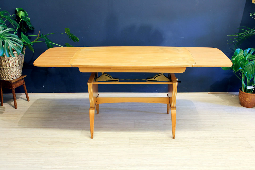 In hoogte verstelbare tafel vintage eiken froufrou 39 s for Tafel hoogte