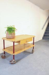 Jaren 40 houten trolley