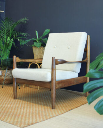 vintage jaren 70 armchair deens design