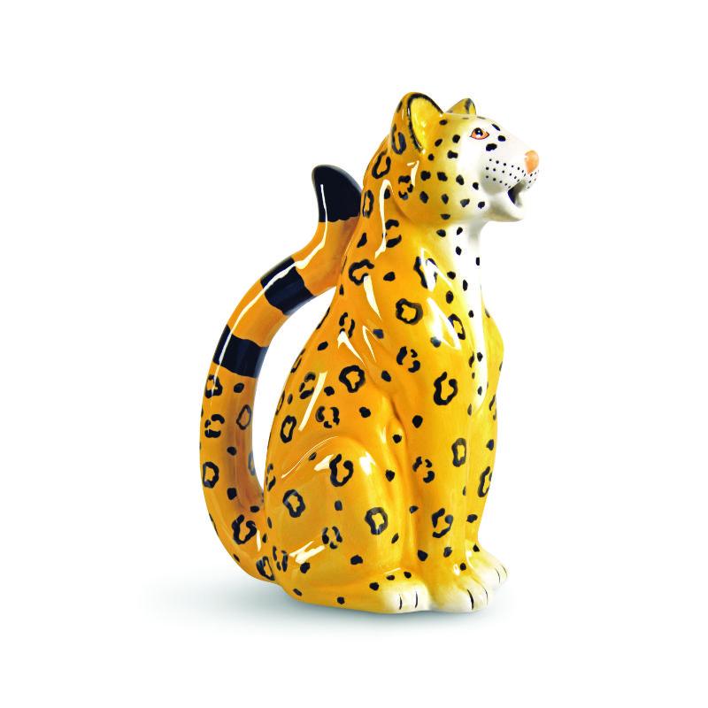 Klevering porseleinen karaf luipaard