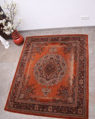 oranje-roest-perzisch-tapijt-vintage-2