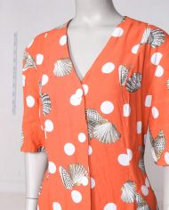 oranje-vintage-doorknoopjurkje-zomerjurkje-2