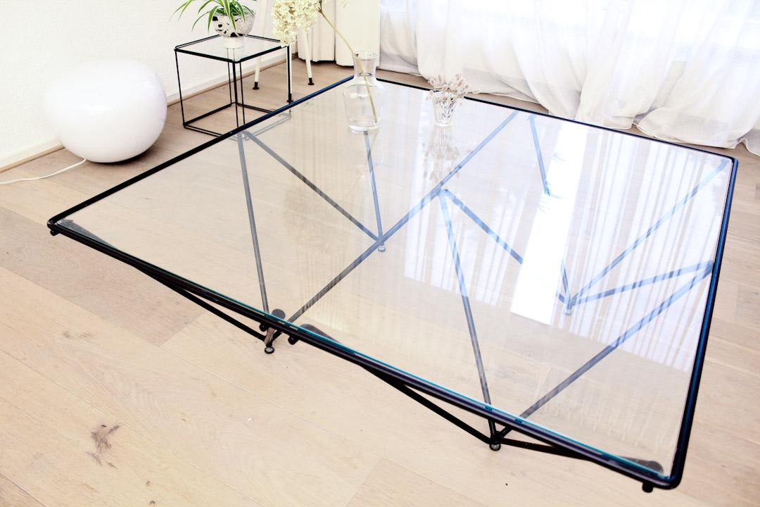 Zwarte Tafel Met Glasplaat.Salontafel Glas Rond Gallery Of Glazen Salontafel Flute Fiam Design