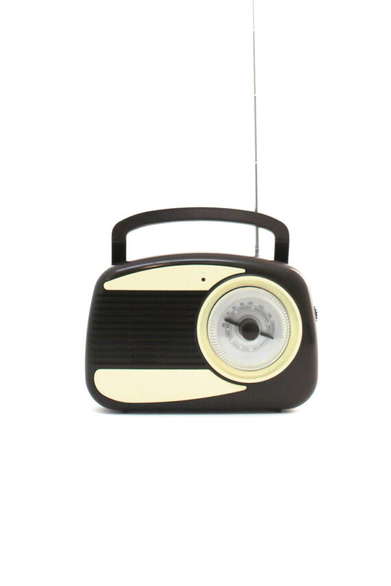 Retro draagbare Radialva radio