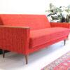 Rode vintage sofabed jaren 60