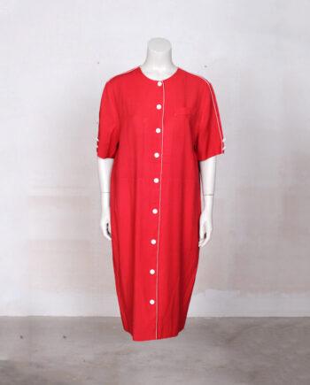 rode vintage jurk