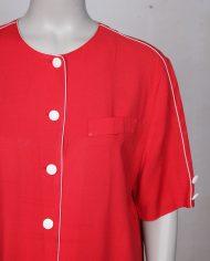 rode-wijdvallende-vintage-jurk-knopen-3
