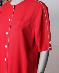 rode-wijdvallende-vintage-jurk-knopen-4