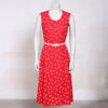 Vintage rode zomerjurk