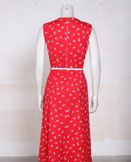 rood-vintage-jurkje-zomerjurk-witte-print-2