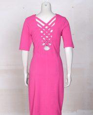 roze-bodycon-vintage-jurk-rug-2