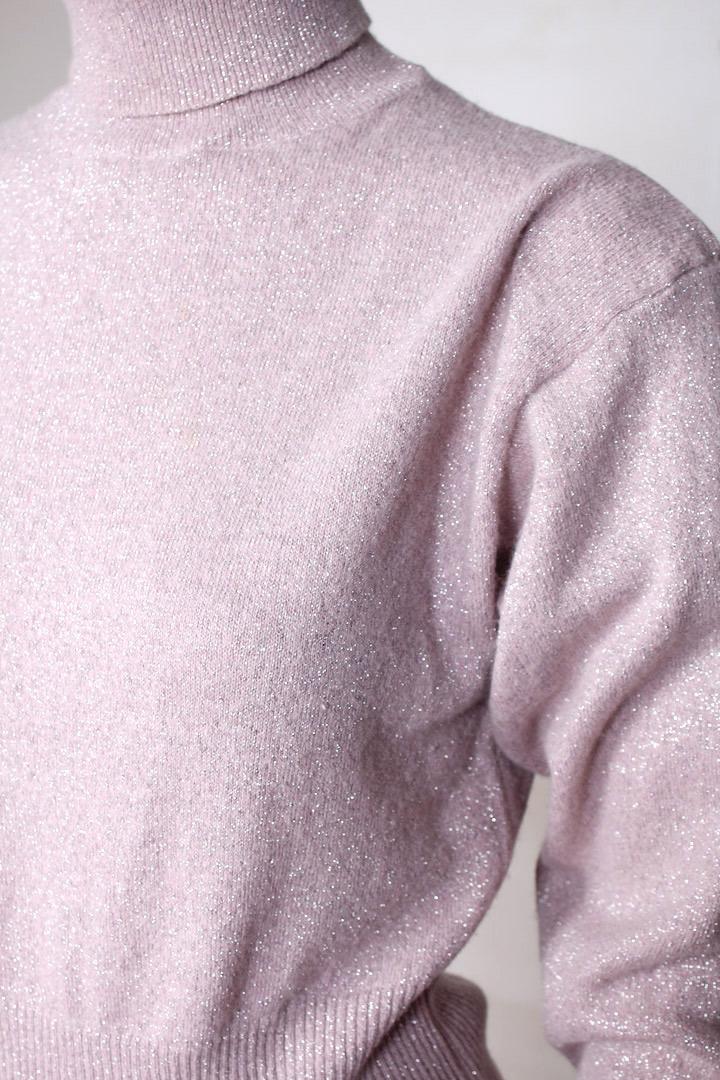 Roze Wollen Trui.Roze Coltrui Met Lurex Glitters Froufrou S