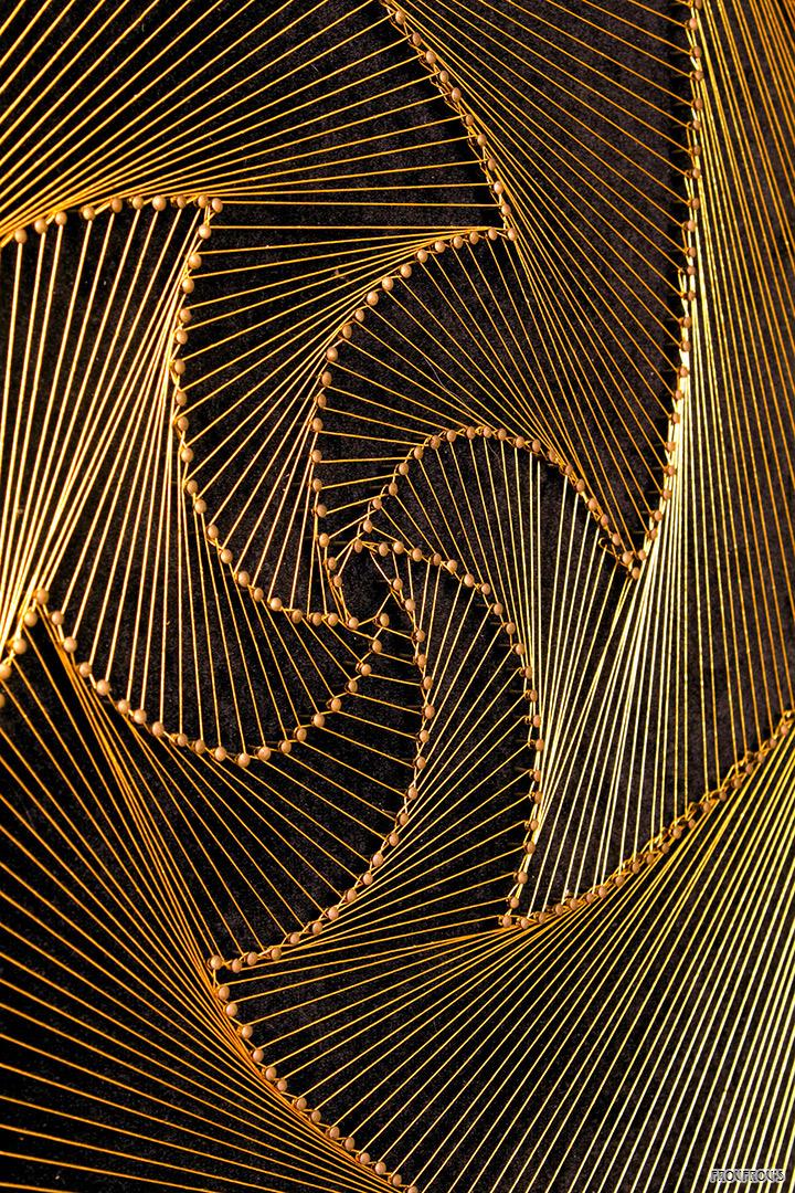 groot string art schilderij 82x82