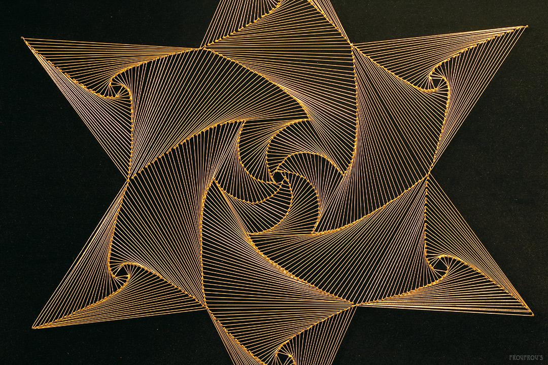 Groot String Art Schilderij 82x82 Froufrous