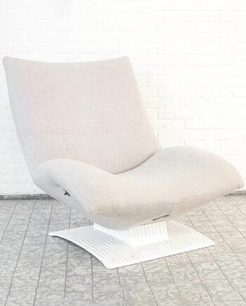 Vintage Artifort Wave F773 fauteuil creme / wit
