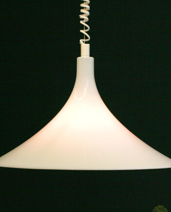 Vintage Harco Loor Dutch Design lamp heksenhoed