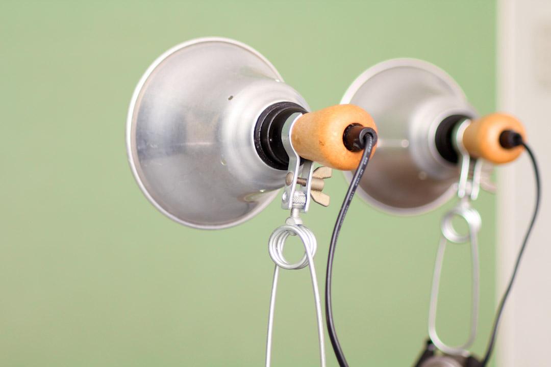 vintage klemlamp