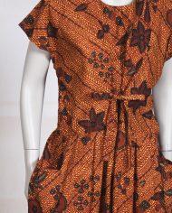 vintage-batik-vlisco-afrikaanse-jurk-bruin-2