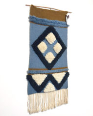 vintage-blauw-oker-wandkleed-geweven-2